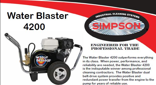 Simpson Water Blaster WB4200 Pressure Washer Parts, breakdown & Owners Manual