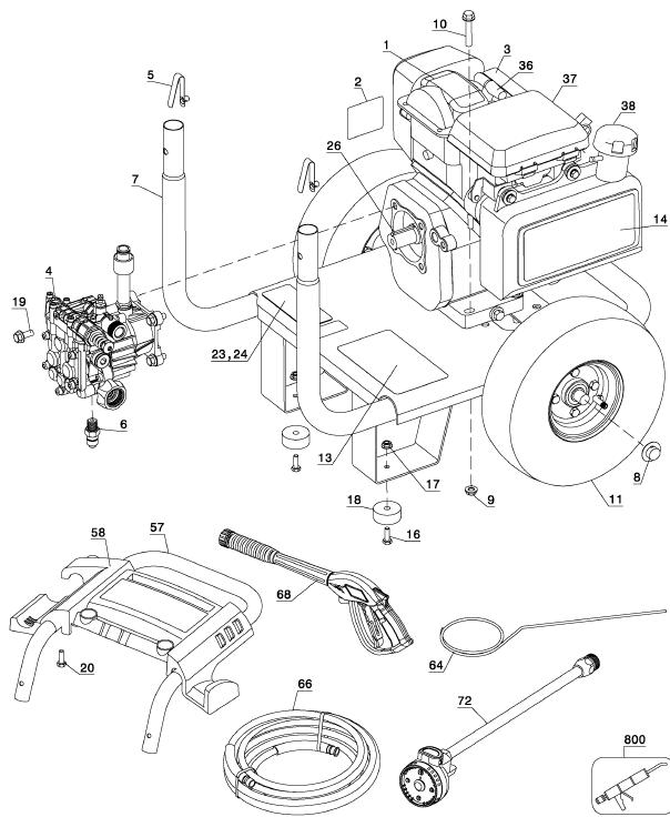 Honda Small Engine Pressure Washer Parts