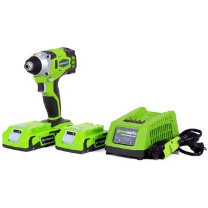 GREENWORKS G-24 24V 2.0AH(2) CORDLESS DIGIPRO IMPACT DRIVER