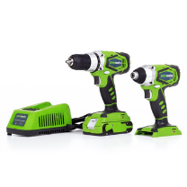 GREENWORKS G-24 COMBO KIT 24V 2 SPEED COMPACT,  IMPACT DRIVER