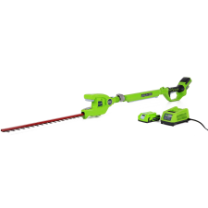 G24 GREENWORKS POLE HEDGE TRIMMER