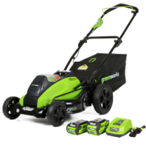 "GREENWORKS 40V 2.0AH/4.0AH GMAX DIGIPRO CORDLESS 19"" MOWER, BRUSHLESS"