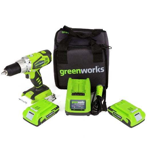 GREENWORKS G-24 24V(2) SPEED COMPACT DRILL
