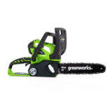 GREENWORKS 40V 4.0AH CORDLESS CHAINSAW (SKU: 20202)