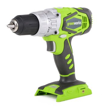 GREENWORKS G-24 CORDLESS 2SPEED HAMMER DRILL - TOOL ONLY