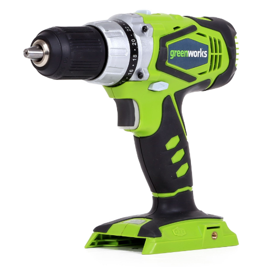 GREENWORKS G-24 24V 2 SPEED COMPACT DRILL - TOOL ONLY