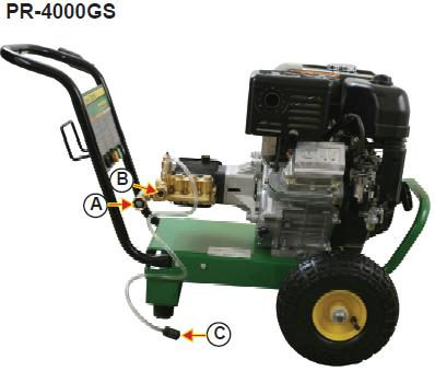 PR-4000GS Pressure washer  breakdown, parts & owners manual