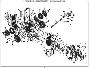 PowerStroke PS171433 Electric Pressure Washer Replacement Parts