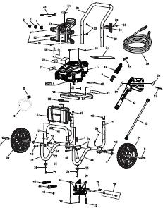 Husky gas HU80911  Pressure Washer Replacement Parts