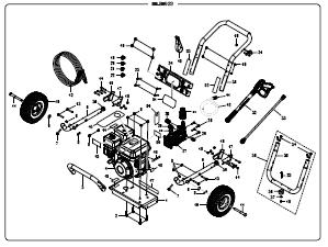 Homelite HL80923 POWER Washer Replacement Parts