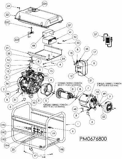 POWERMATE PM0676801 REPLACEMENT PARTS AND OWNERS MANUAL