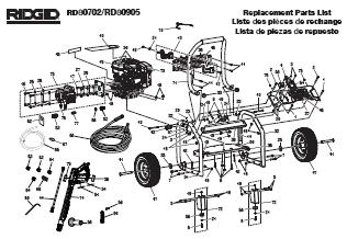 RIDGID RD80706 & RD80993 POWER Washer Replacement Parts