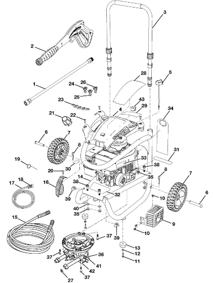 Husky HU80520 POWER Washer Replacement Parts