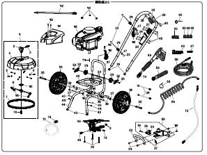 Husky Hu80833 Power Washer Replacement Parts