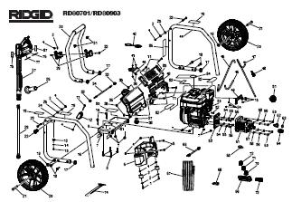 RIDGID RD80701 POWER Washer Replacement Parts