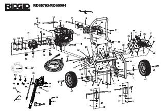 RIDGID RD80964 POWER Washer Replacement Parts