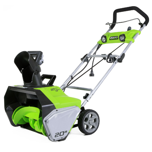 "GREENWORKS 13AMP - 20"" CORDED SNOW THROWER"