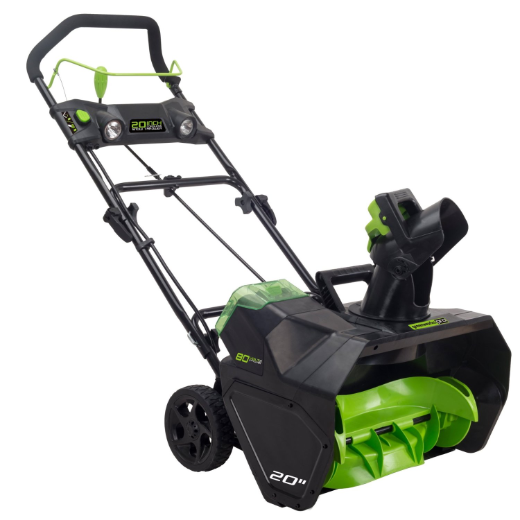 "GREENWORKS 80V LI-ION 20"" CORDLESS SNOW THROWER - TOOL ONLY"