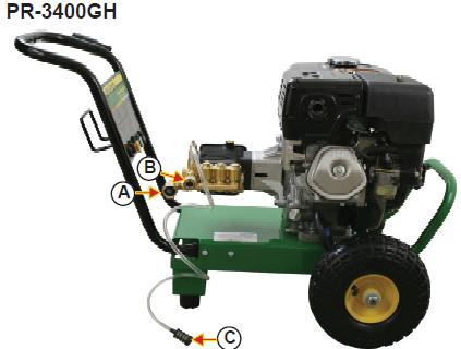 PR-3400GH Pressure washer  breakdown, parts & owners manual