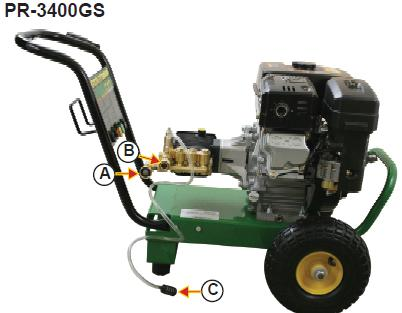 PR-3400GS Pressure washer  breakdown, parts & owners manual