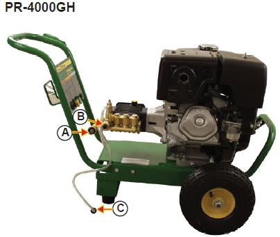 PR-4000GH Pressure washer  breakdown, parts & owners manual