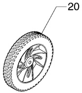 Briggs and Stratton Wheel, 705405