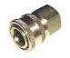 17-0001, QC 1/4F X 1/4 SOCKET BRASS [Mi-T-M] (SKU: 17-0001)