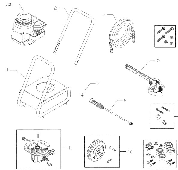Craftsman Pressure Washer 020257-0 Parts