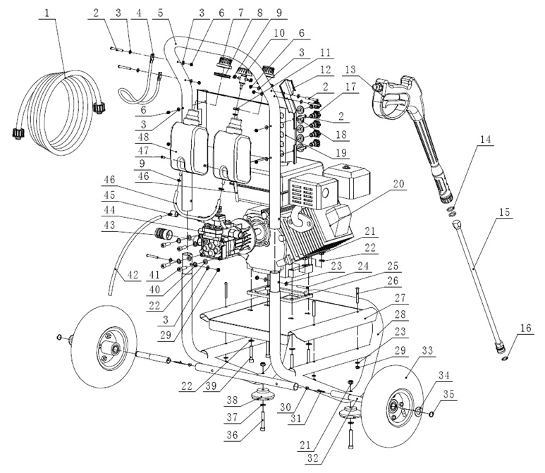 03985834 Parts Breakdown: Honda Pressure Washer Motor Diagram At Scrins.org