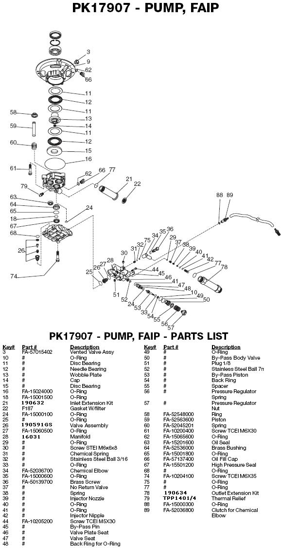 Excell 37801-1 pump parts