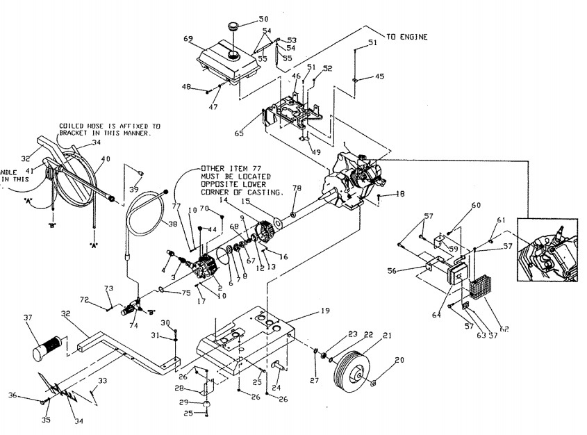 Sears Craftsman Pressure Washer Model 580751650 Replacement Parts. 580751650 Engine Parts Breakdown Owners Manual. Wiring. Craftsman Pressure Washer Engine Parts Diagram At Scoala.co