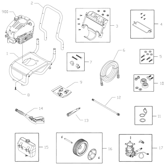 Craftsman Pressure Washer 580752140 Parts