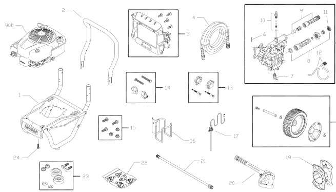 Sears Craftsman 580752212 Pressure Washer Parts