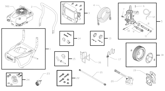 Sears Craftsman Pressure Washer Model 580752531 Replacement Parts And Upgrade Pumps For Sears Craftsman Power Washers