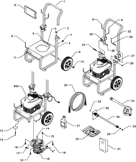 [DIAGRAM_4PO]  Sears & Craftsman Pressure Washer model 580767101 replacement parts and  upgrade pumps for sears craftsman power   Wiring Diagram For Craftsman Pressure Washer      ppe-pressure-washer-parts.com
