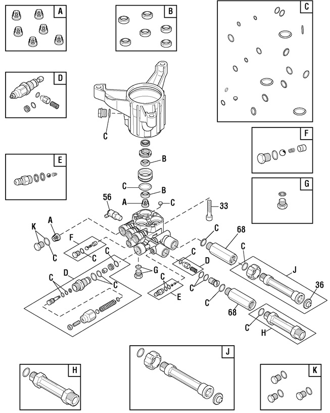 Troy Bilt Pressure Washer Model 020641 Replacement Parts