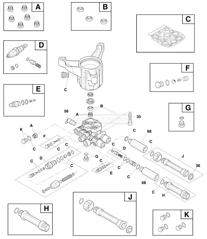 Troy Bilt Pressure Washer Model 020676 Replacement Parts