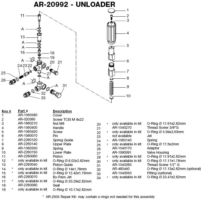 AR20992 porter cable pck4040sp pressure washer replacementparts parts