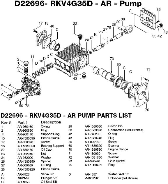 Excell EXHP3540 pump parts