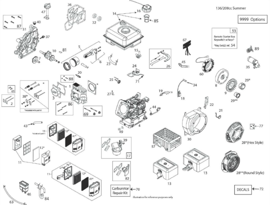 Graco 800-165 model 1535 engine parts