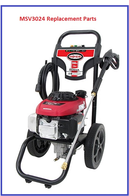 MSV3024 Simpson Pressure Washer Parts, Breakdown & Owners Manual