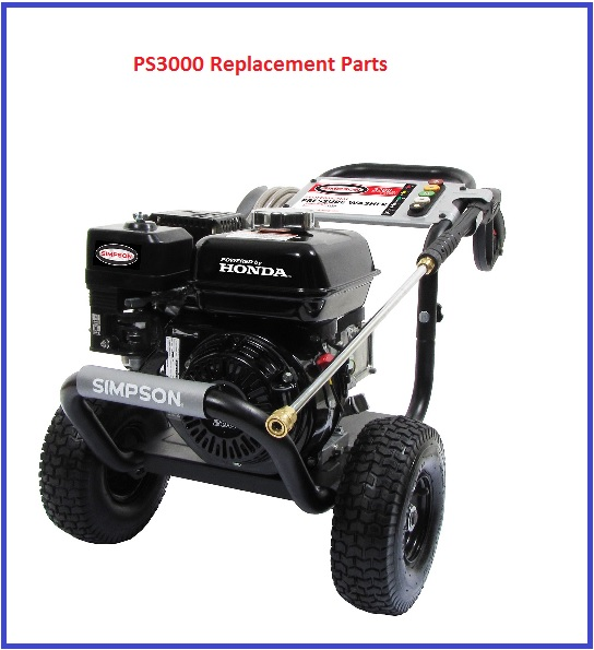 SIMPSON PS3000 PRESSURE WASHER PARTS