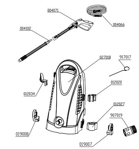 earthwise electric power washer pw01650 replacement  parts,breakdowns,manuals & tech support  ppe-pressure-washer-parts.com