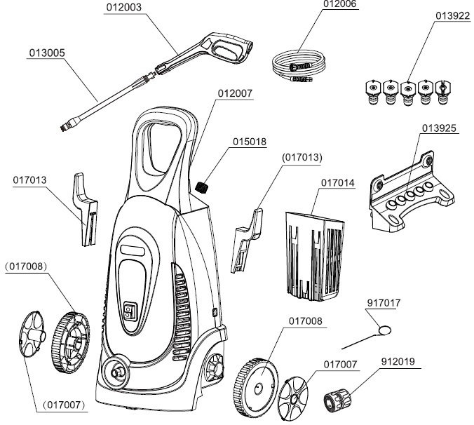 earthwise electric power washer pw02200 replacement  parts,breakdowns,manuals & tech support  ppe-pressure-washer-parts.com