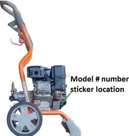 Where to finf your GENERAC model number and serial number