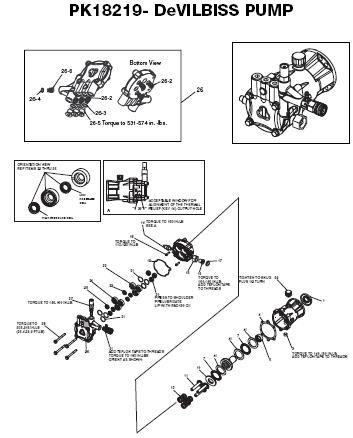 Excell Pressure Washer Exh2425 Replacement Parts