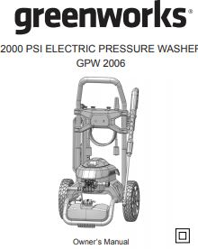 GPW2006 Owners manual