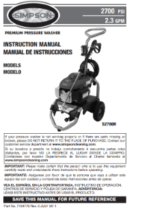S2700H Owners Manual