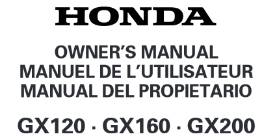 GX120_GX160_GX200 OWNERS MANUAL SERIAL NUMBERS GCAJK-1052127-9999999