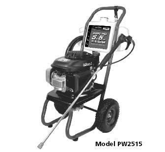 Campbell Hausfeld PW2515  Pressure Washer Parts